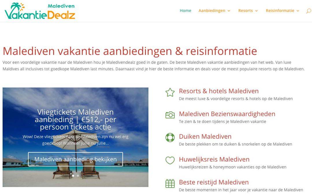 Vakantie Dealz dochter Malediven Dealz gelanceerd